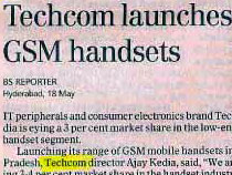 Techcom-launches-GSM-handes