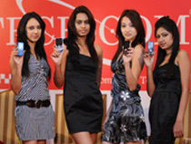 Models displaying Tech-com mobiles