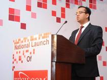 Mr Sandeep Kedia addressing guests and media