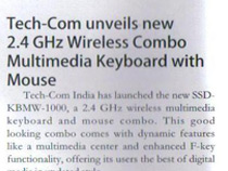 Tech-Com unevil  new 2.4 GHz Wireless Combo Multimedia keyboard